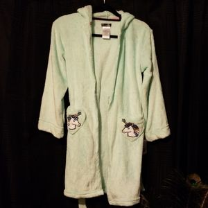 Adorable NWT Cuddle Duds Unicorn Robe Sz girls Lg
